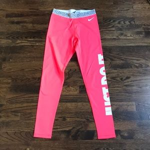 NIKE Dri Fit Hot Pink leggings